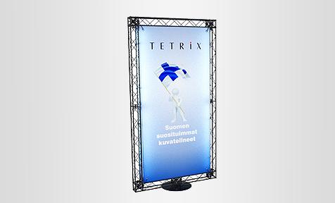 Mainos ständi LED TRUSS valaistu mainosteline messuseinä